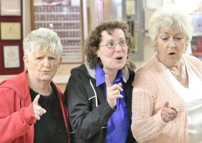 three women singing rehearsing for GI Jukebox 2017