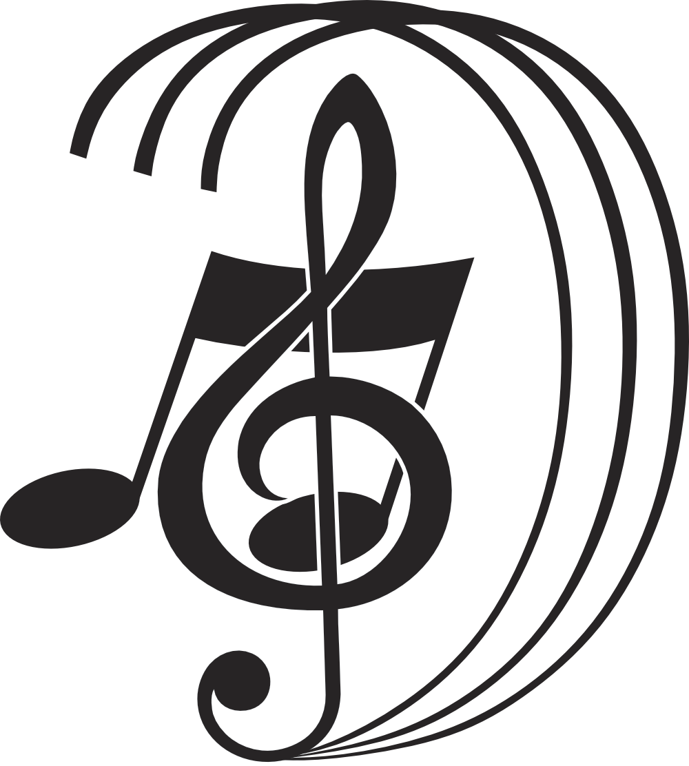 Treble cleff on a music note